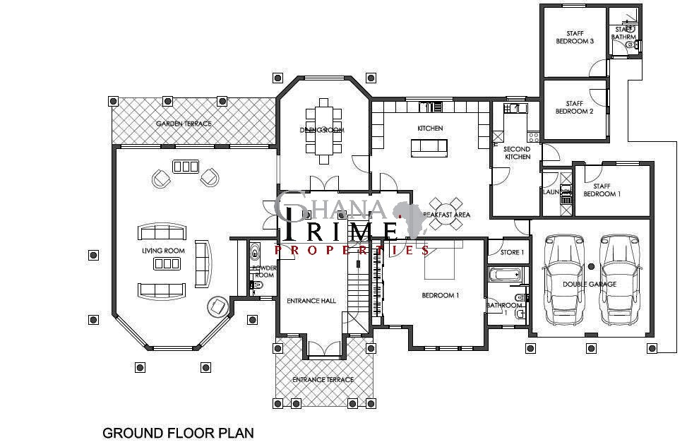 5 bedroom luxury house for sale in trasacco valley for Bedroom home floor plans for sale