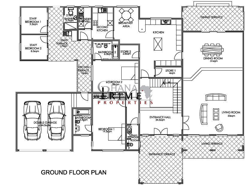 5 bedroom luxurious house for sale in trasacco valley for 5 bedroom house plans in ghana